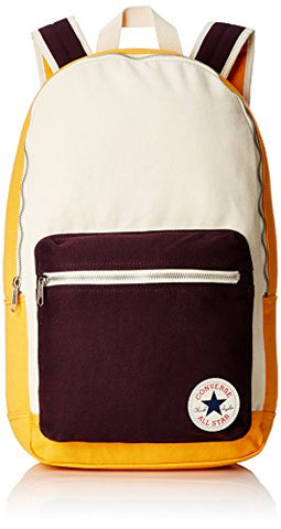 Converse Core Plus Canvas Backpack - Brown/Cream/Mustard