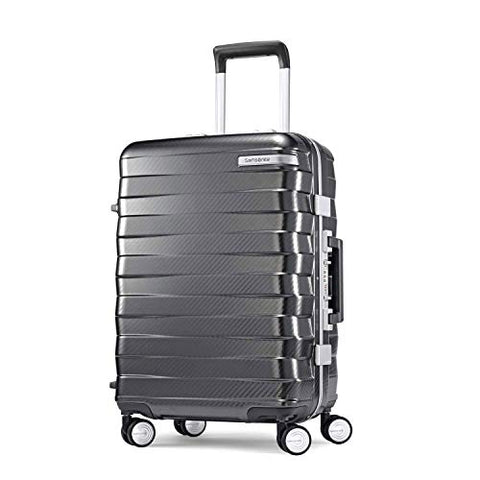 Samsonite Framelock Hardside Carry On Luggage With Spinner Wheels, 20 Inch, Dark Grey