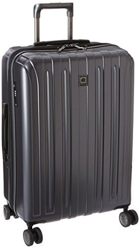 Delsey Luggage Helium Titanium 25 Inch Exp Spinner Trolley Metallic, Graphite, One Size