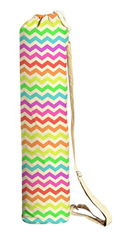Rainbow Chevron Printed Canvas Yoga Mat Bags Carriers Was_41