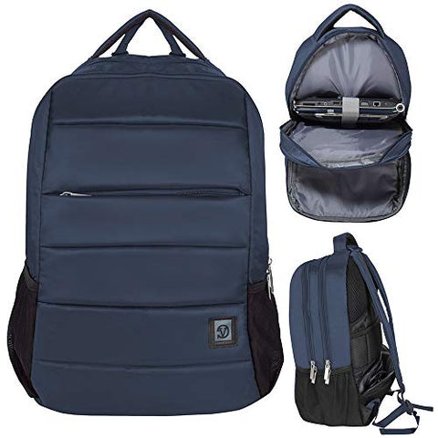 Computer Backpack for Laptop Upto 17.3 Inch Student Bookbag Compatible Acer, Dell, LG, Huawei, Navy