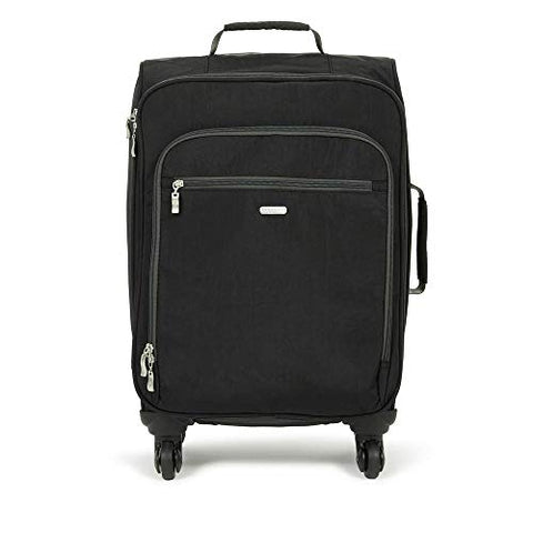 Baggallini 4 Wheel Carry-on, black/charcoal