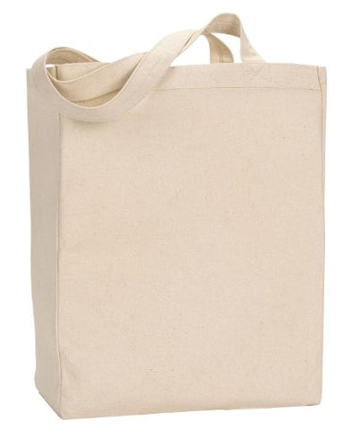 Ultraclub 8861 Uc Canvas Tote W/Gusset - Natural - One