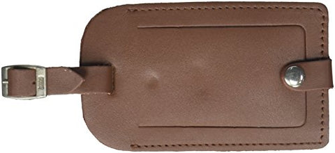 Dacasso Leather Luggage Tag, Rustic Brown (A3298)