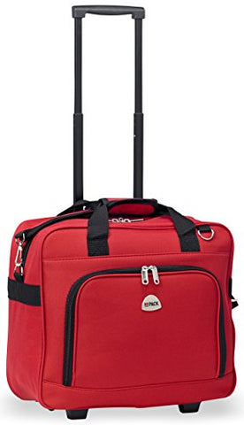 Hipack Multi-Use Rolling Trolley Overnight Bag-Tsa Approved Carryon (Red)