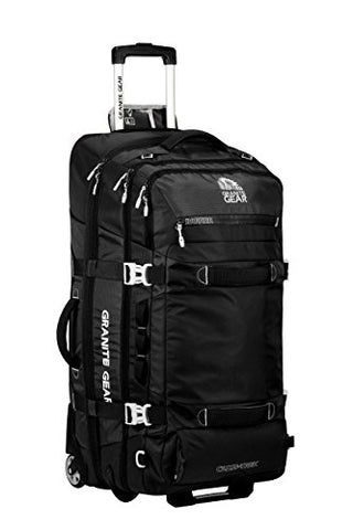 "Granite Gear Cross-Trek 32"" Wheeled Duffel -Black/Chromium"