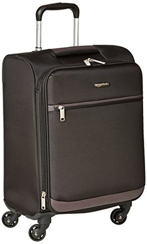 Amazonbasics Softside Spinner Luggage - 21-Inch, Carry-On/Cabin Size, Black