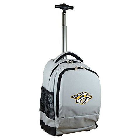 Nhl Nashville Predators Expedition Wheeled Backpack, 19-Inches, Grey