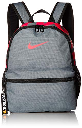 Nike Kids' Brasilia Just Do It Mini Backpack, Cool Grey/Black/Racer Pink, One Size