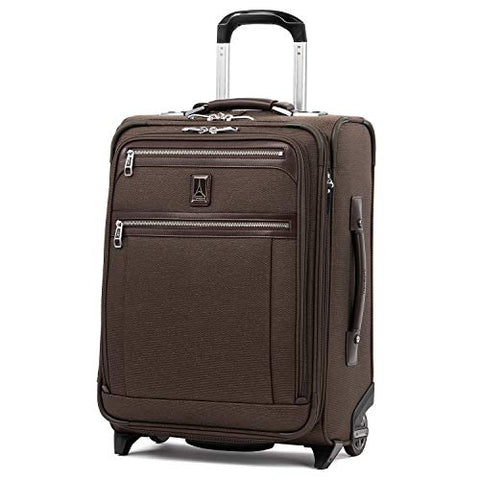 "Travelpro Luggage Platinum Elite 20"" Carry-On Intl Expandable Rollaboard W/Usb Port, Rich Espresso"
