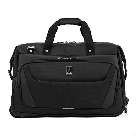 "Travelpro Luggage Maxlite 5 20"" Lightweight Carry-on Rolling Duffel Suitcase, Black, One Size"