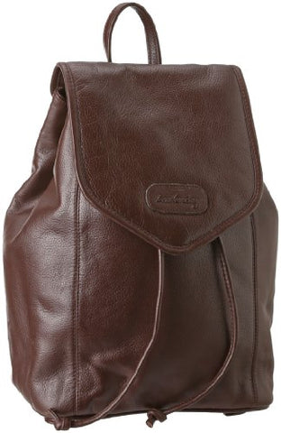 Leatherbay Leather Small Backpack,Dark Brown,one size
