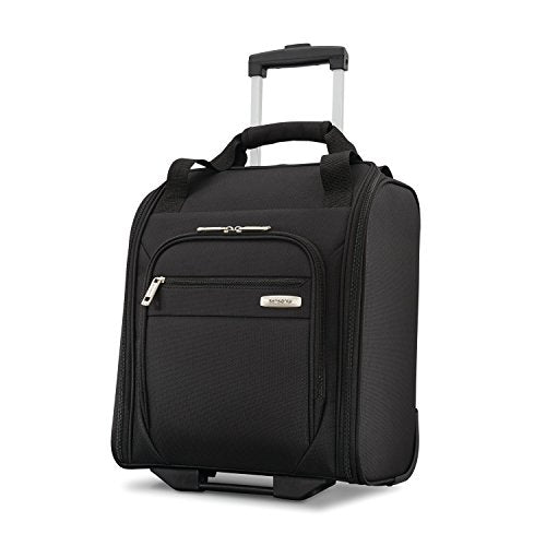 Samsonite Advena Underseat Carry On Luggage With Wheels, Black