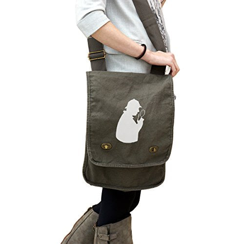 I Love Sherlock Holmes 14 oz. Authentic Pigment-Dyed Canvas Field Bag Tote