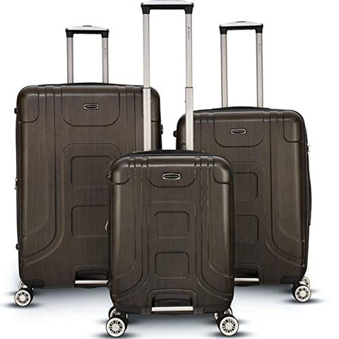 Gabbiano Provence 3 Piece Expandable Hardside Spinner Luggage Set (Bronze)