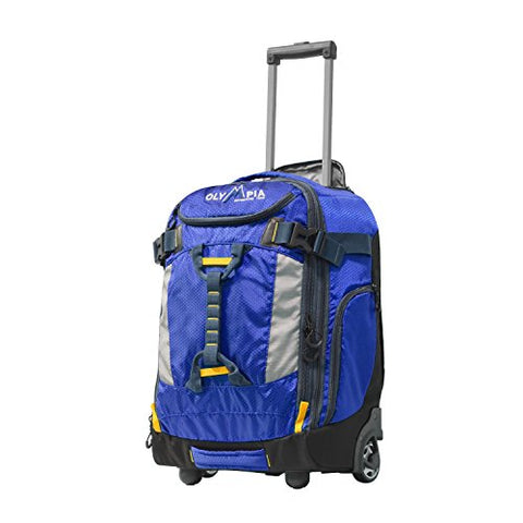 "Olympia Cascade 20"" Outdoor Upright Carry-On W/Hideaway Backpack Straps, Blue"