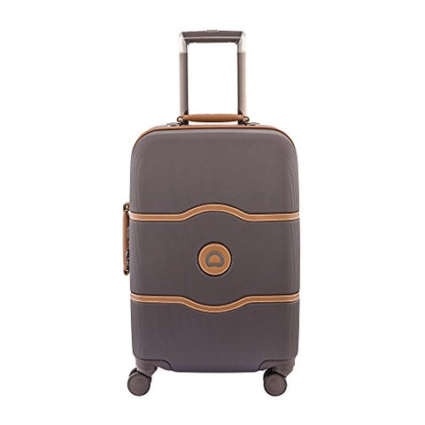 Delsey Luggage Chatelet Hard+ 28 Inch 4 Wheel Spinner Luggage, Brown