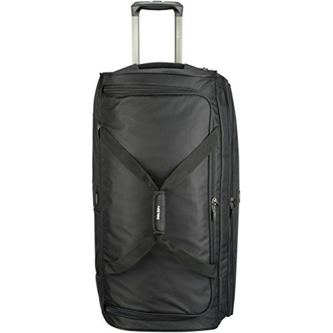"Delsey Luggage Cruise Soft 30"" Trolley Rolling Duffel, Black, One Size"