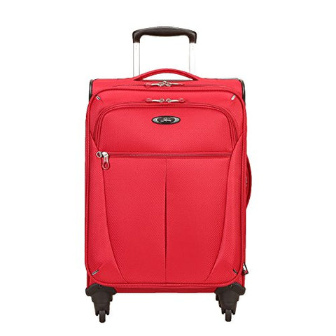 Skyway Mirage Superlight 20-Inch 4 Wheel Expandable Carry-On, Formula 1 Red, One Size