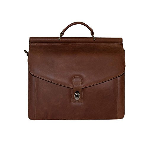 Rushmore Full Grain Leather Briefcase Laptop Bag - Brown