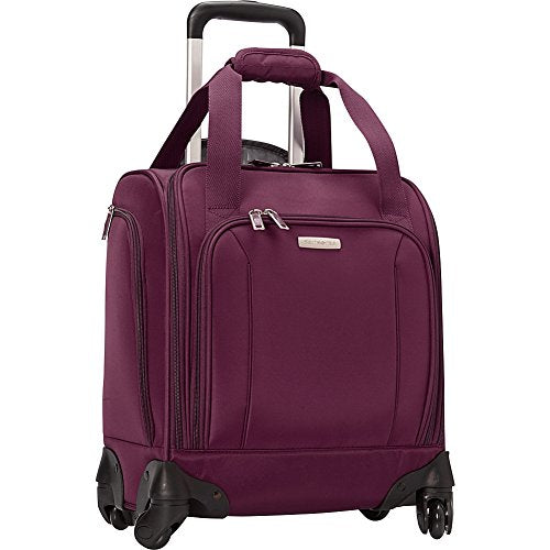 Samsonite Spinner Underseater with USB Port, Rolling Carry-On With Laptop Pocket - Fits 14.2 Inch Laptop - (Potent Purple)