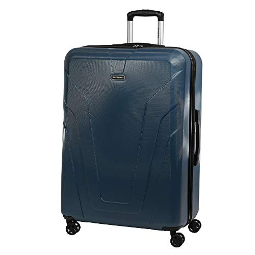 Samsonite Frontier Spinner Carry-On Luggage Large Petrol Blue Suitcase