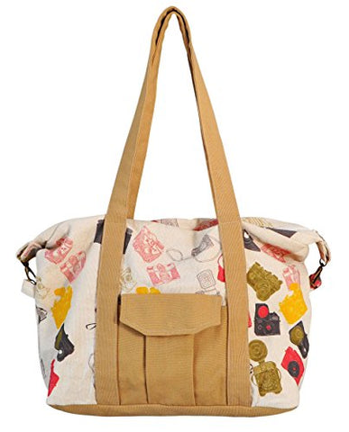 Vintage Camara Vintage Camara Print Picnic, Shopping Multi-Purpose Canvas Zipper Bag
