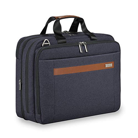 Briggs & Riley Kinzie Street Medium Expandable Brief Briefcase, Navy, One Size