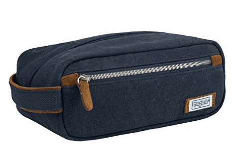 Travelon Heritage Top Zip Toiletry Kit, Indigo