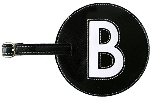 Luggage Tags Initials Pb Travel. Black B