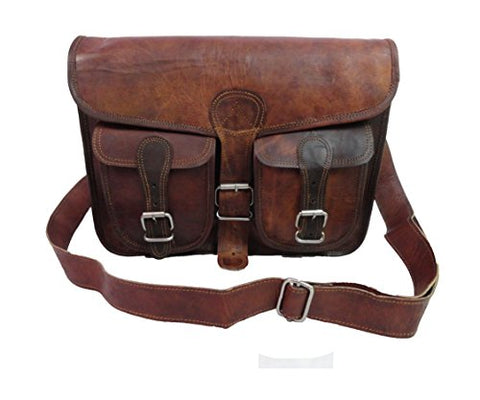 "15X11"" Vintage Leather Messenger Bag Satchel Cross Body Bag Laptop Macbook Bag"