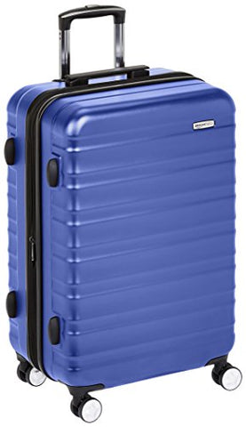 Amazonbasics Premium Hardside Spinner Luggage With Built-In Tsa Lock - 24-Inch, Blue