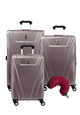 Travelpro Maxlite 5 Hardside 4-PC Set: Exp. C/O, 25-Inch and 29-Inch Spinner with Travel Pillow (Dusty Rose)