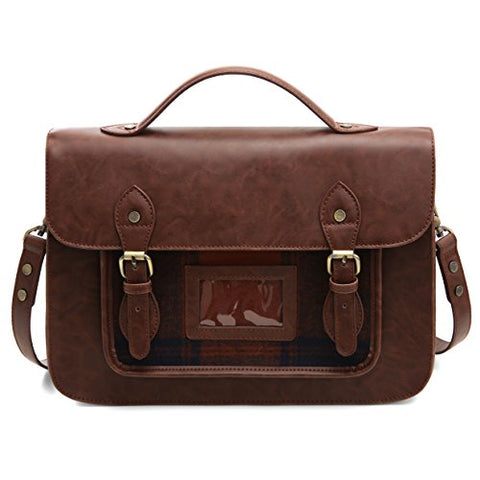ECOSUSI Laptop Messenger Bag for Women Vintage PU Leather Briefcase Satchel Purse with 13 inch