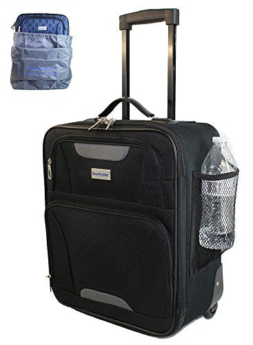 BoardingBlue Rolling Personal Item Luggage Under Seat for American & Southwest Airlines