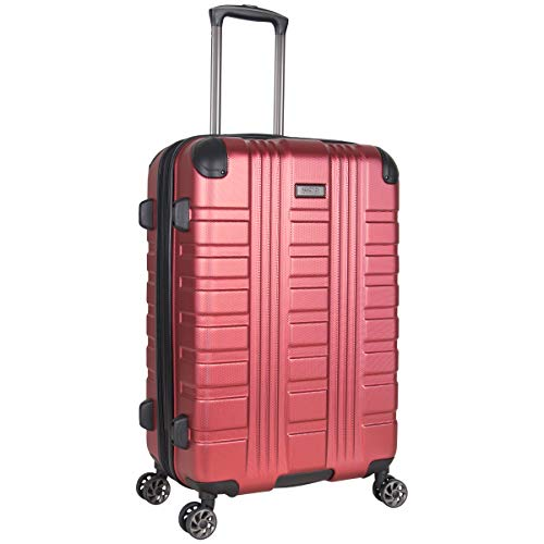 "Kenneth Cole Reaction Scott's Corner 24"" Hardside Expandable Spinner 8-Wheel Luggage with TSA Locks, Red"