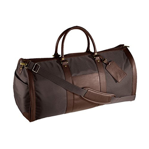 Andrew Philips Leather Nylon Metro Convertible Duffle/Garment Bag In Brown