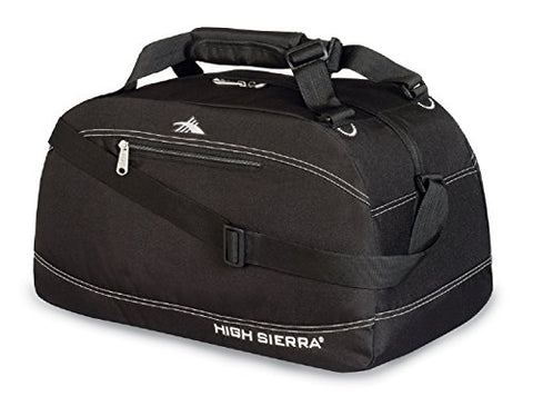 "High Sierra 24"" Pack-N-Go Duffel, Black/Black/Black"