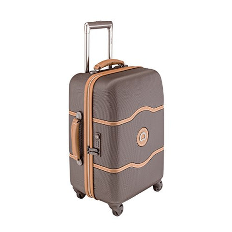 Delsey Luggage Chatelet 21 Inch Carry-On Spinner (One size, Chocolate/Tan)