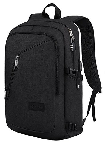 Slim Travel Backpack,Anti-Theft College School Backpack With Usb Charging Port And Lock For Men