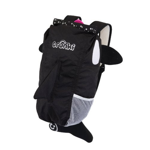 Trunki Paddlepak Back Pack - Water Resistent Kids Backpack (Kaito), Black