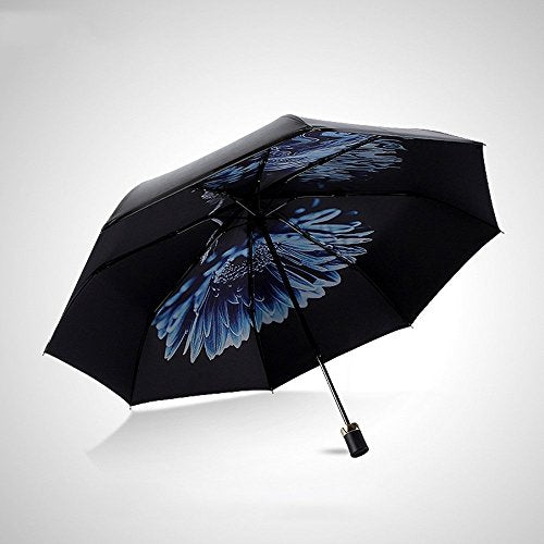 HOMEE Foldable sun umbrella rain and rain umbrella creative umbrellas vinyl sun umbrella,C