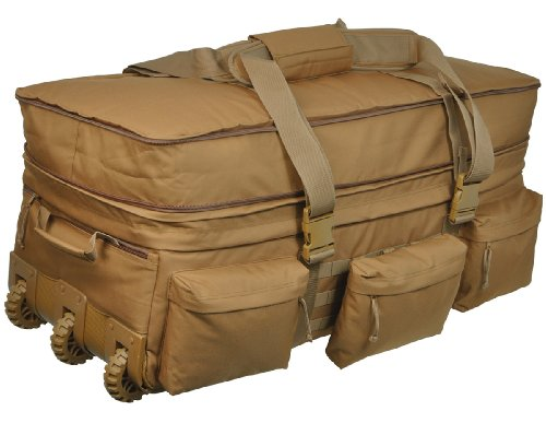 Sandpiper of California Rolling Loadout Luggage X-Large Bag (Brown, 15.5x37x17-Inch)