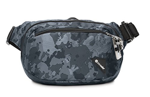 Pacsafe Vibe 100 4 Liter Anti Theft Hip Pack-Fits 7 inch Tablet Waist, Grey Camo One Size