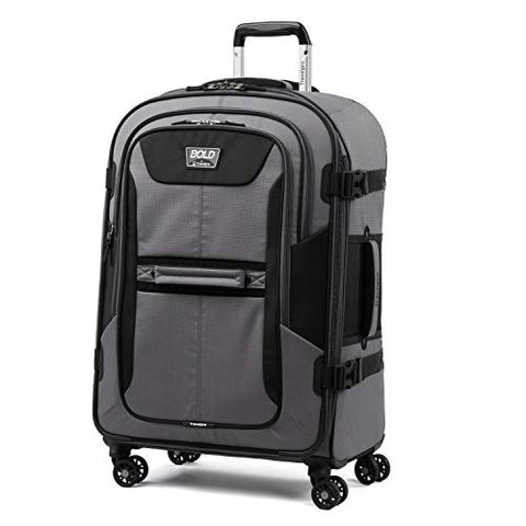 "Travelpro Bold 26"" Expandable Checked Luggage Spinner,Gray/Black"