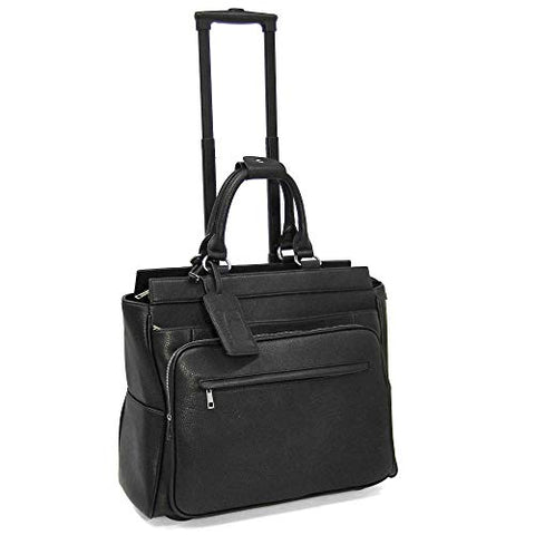 "Cabrelli Piper Pebble 15"" Laptop Rollerbrief (Black)"
