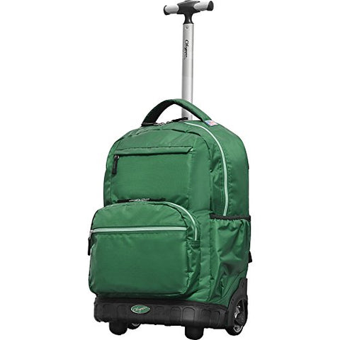 "Olympia Usa Melody 19"" Rolling Backpack (Green)"
