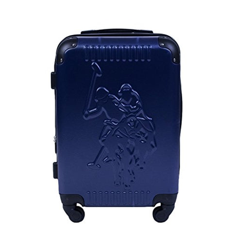 U.S. Polo Assn. 21in Spinner Suitcase, Blue