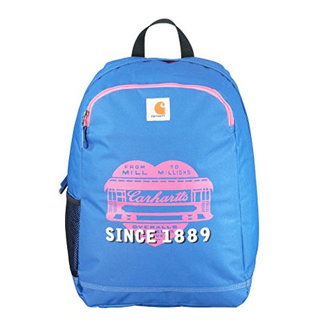 Carhartt Traditional School-Backpack, Blue/Pink Heart