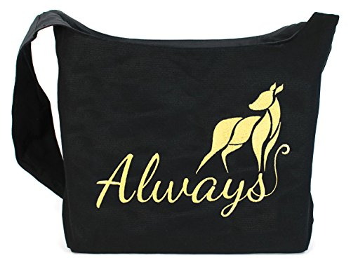 Dancing Participle Always Doe Embroidered Sling Bag